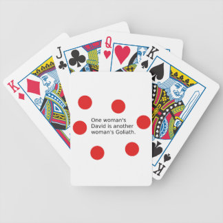 One Woman's David Is Another Woman's Goliath Bicycle Playing Cards