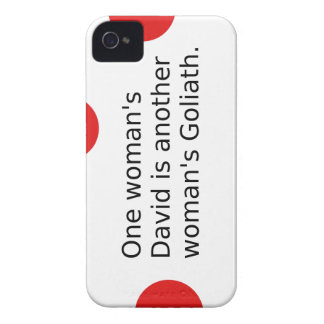 One Woman's David Is Another Woman's Goliath iPhone 4 Case-Mate Case