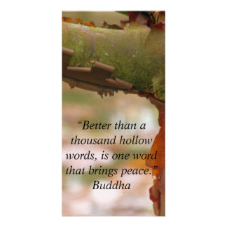 One Word That Brings Peace Card Personalized Photo Card