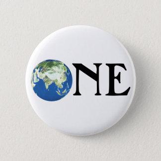 ONE WORLD 6 CM ROUND BADGE