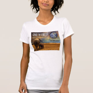 One World Destroyed by Chemtrails. T-Shirt