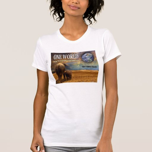 One World Destroyed by Chemtrails. Tee Shirt