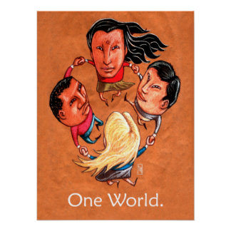 One World Global Community Art Print Poster