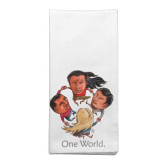 One World Global Community Cloth Dinner Napkins