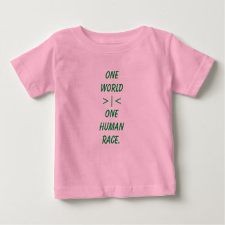One World, One Human Race child shirt