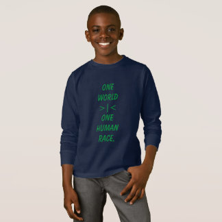 One World, One Human Race kid shirt