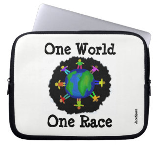 One World, One Race Laptop Sleeves