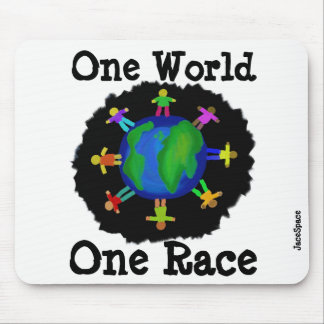 One World, One Race Mouse Pad