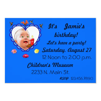 One Year Old Birthday 13 Cm X 18 Cm Invitation Card