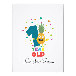 One Year old first Birthday Party Zpuo7 Card