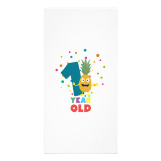 One Year old first Birthday Party Zpuo7 Picture Card