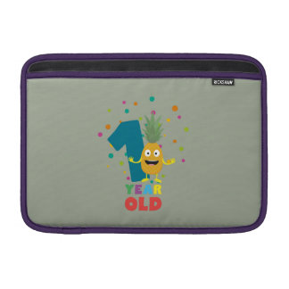 One Year old first Birthday Party Zpuo7 Sleeve For MacBook Air