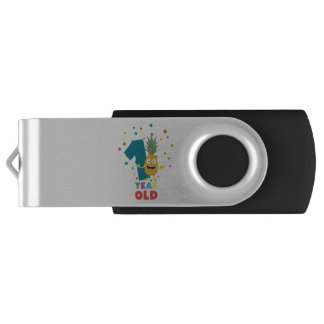 One Year old first Birthday Party Zpuo7 Swivel USB 3.0 Flash Drive