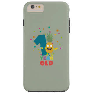 One Year old first Birthday Party Zpuo7 Tough iPhone 6 Plus Case