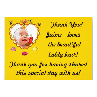 One-Year-Old's Thank You Announcements