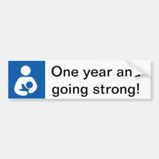 One Year Strong Breastfeeding Bumper Sticker