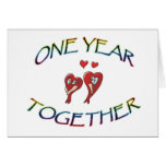 ONE YEAR TOGETHER GREETING CARD