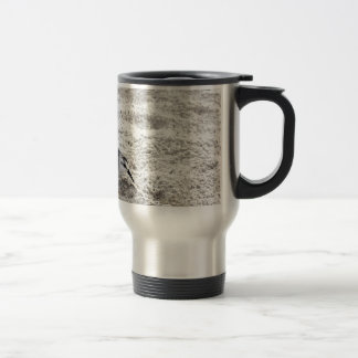 One Young Snowy Plover Bird Travel Mug