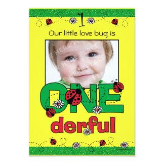 ONEderful Ladybug 1st Birthday Custom Invitations