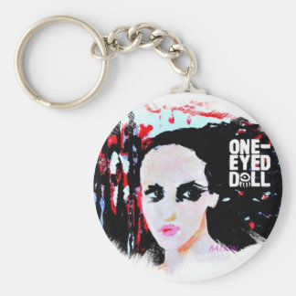 oneeyed doll  painting w logo basic round button key ring