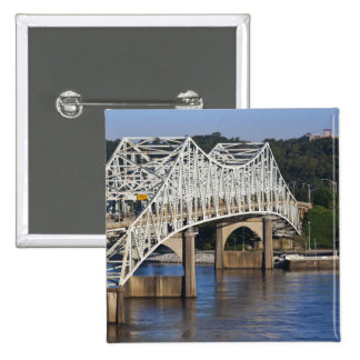 O'Neil Bridge on Tennessee River, Florence, 15 Cm Square Badge