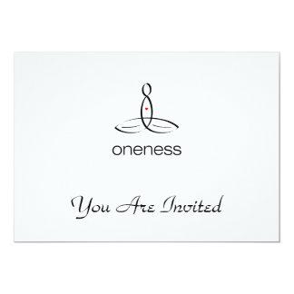 Oneness - Black Regular style 13 Cm X 18 Cm Invitation Card