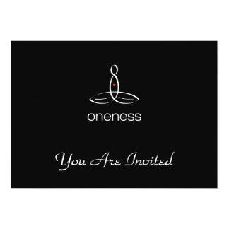 Oneness - White Regular style 13 Cm X 18 Cm Invitation Card