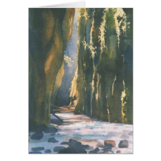 Oneonta Canyon, Greeting Card