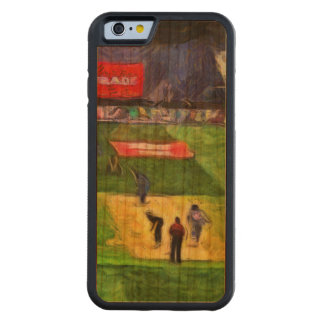 Ongoing cricket match carved cherry iPhone 6 bumper case