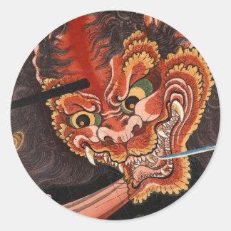 Oni King Shutendoji Round Stickers