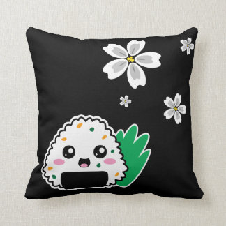 Onigiri and White Sakura Pillow