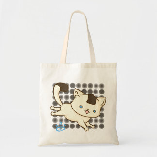 Onigiri Cat Frolic Tote (Brown Polka)