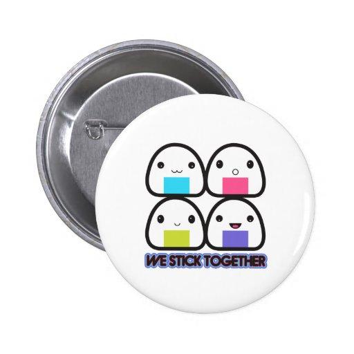 Onigiri Family 6 Cm Round Badge