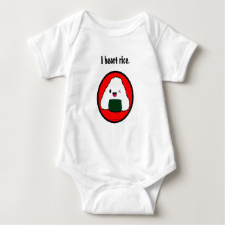 Onigiri I heart rice design Baby Bodysuit