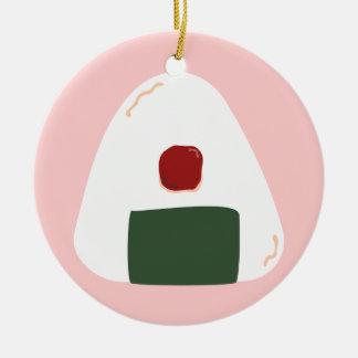 """Onigiri ♥"" ~Pink ver.~ Personalized Ornament"