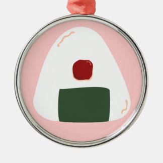 """Onigiri ♥"" ~Pink ver.~ Round Ornament"