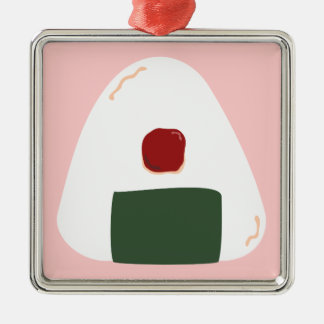 """Onigiri ♥"" ~Pink ver.~ Square Ornament"