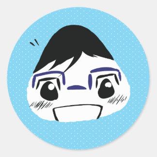 Onigiri Yuuri Classic Round Sticker