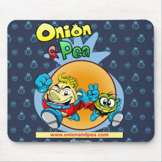 Onion & blue Pea mousepad. Mouse Pad