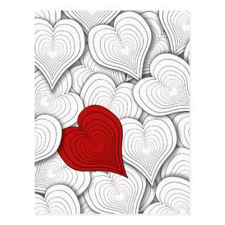 Onion Hearts Valentine Illustration Postcard
