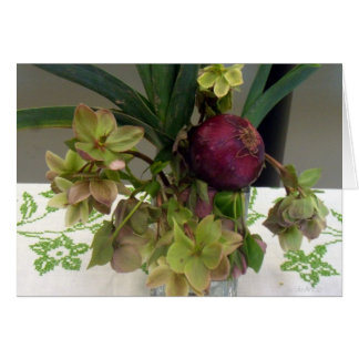 Onion Orchids Note Card