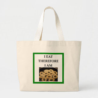 onion ring large tote bag