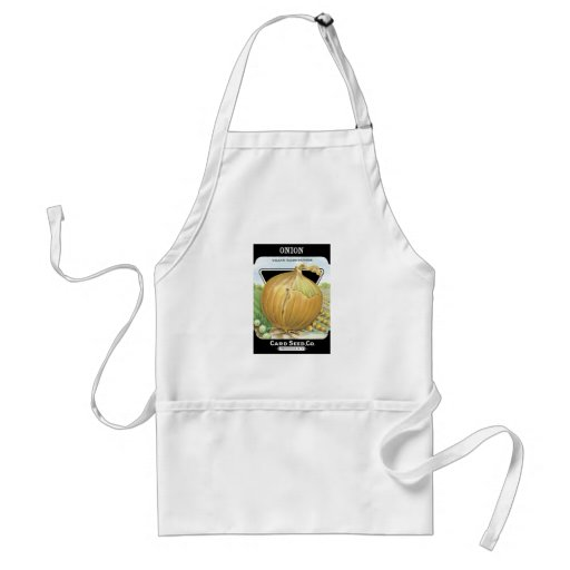 Onion Seed Packet Label Apron