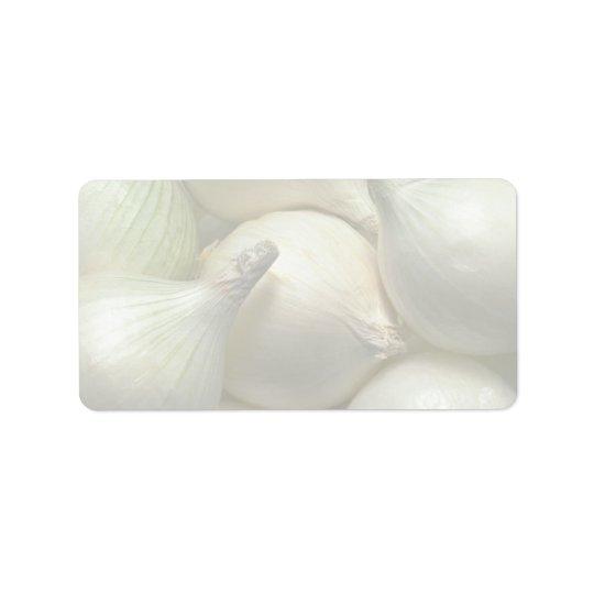 Onions Address Label