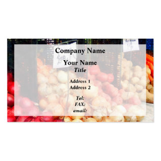 Onions and Potatoes Business Card Template