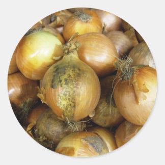 onions classic round sticker