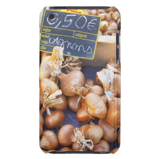 Onions, o.50 euro per bunch, for sale at a iPod touch cover