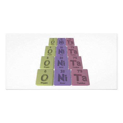 Onita as Oxygen Nickel Tantalum Personalized Photo Card