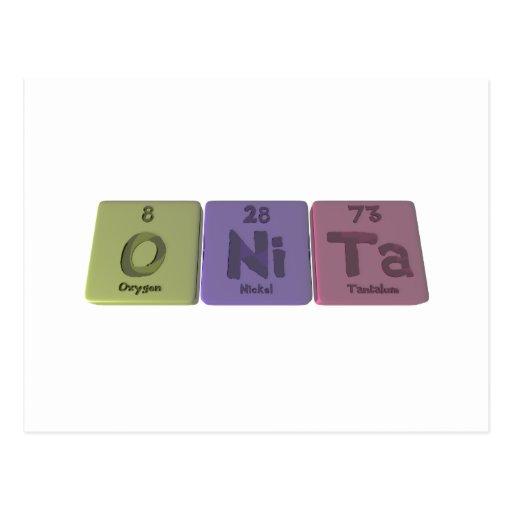 Onita as Oxygen Nickel Tantalum Post Card