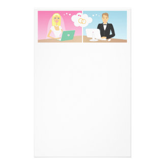Online Bride and Groom Stationery